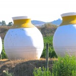 Traditional Talhas, Amphorae, in front of a winery