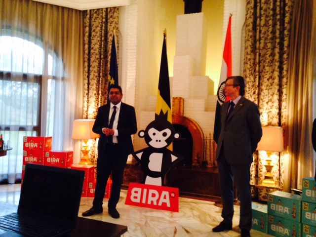 Ankur Jain of Cerana (left) and Mr. Jan Luykx, the Ambassador of Belgium (on right)
