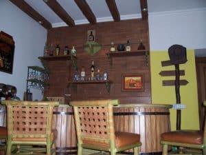 Camel Hide upholstered bar stools