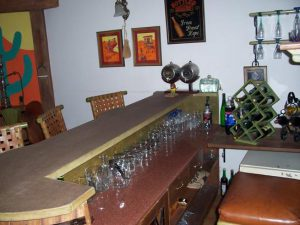 The Cork bar counter