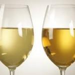 Oxidised Wine on the right