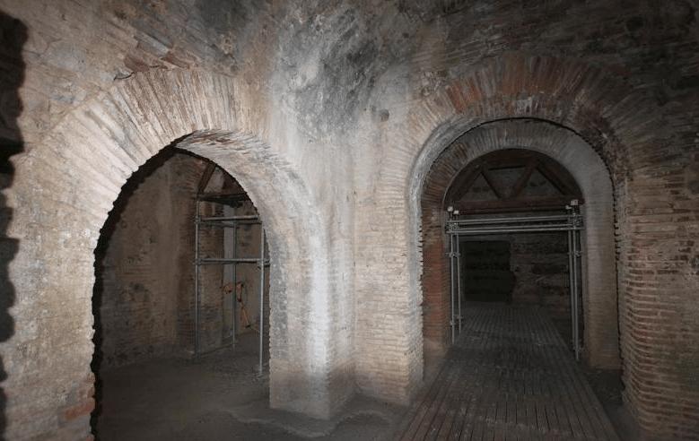 Wine cellar of the Roman Farm outside Vila de Frades