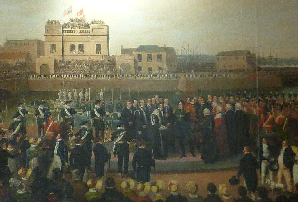 Figure 5. KING GEORGE IV ARRIVING IN LEITH 1822